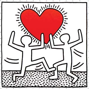 Haring K Untitled 1982 Heart 300