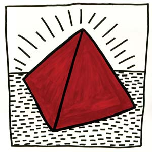 Haring K Untitled 1981 RedTriangle 300
